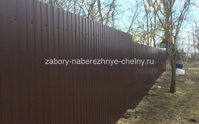 забор из профлиста в Набережных Челнах